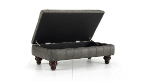 Distinctive Chesterfield Marlborough Storage Footstool