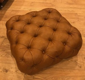 Distinctive Chesterfield Stringer Small Stool